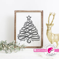 Christmas Tree Sketch svg png dxf eps jpeg SVG DXF PNG Cutting File