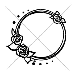Circle With 3 Roses For Monogram Svg Png Dxf Eps Svg Dxf Png Cutting File