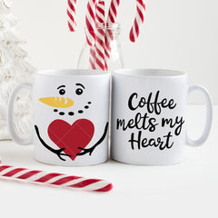 Coffee Melts My Heart Snowman For Mug Svg Png Dxf Eps Svg Dxf Png Cutting File