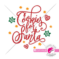 Cookies for Santa for plate svg png dxf eps jpeg SVG DXF PNG Cutting File