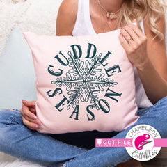 Cuddle Season Snowflake Sketch svg png dxf eps jpeg SVG DXF PNG Cutting File