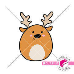 Cute Reindeer hand drawn svg png dxf eps jpeg SVG DXF PNG Cutting File