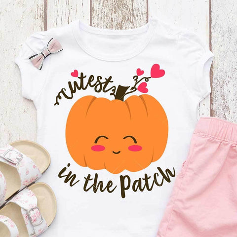 Cutest Pumpkin in the Patch svg png dxf eps