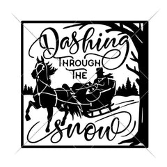 Dashing Through The Snow For Glass Block Svg Png Dxf Eps Svg Dxf Png Cutting File