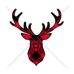 Deer Plaid Svg Png Dxf Eps Svg Dxf Png Cutting File