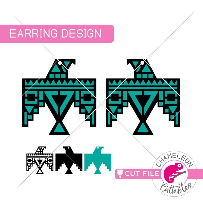 Eagle Earring Template svg png dxf eps SVG DXF PNG Cutting File