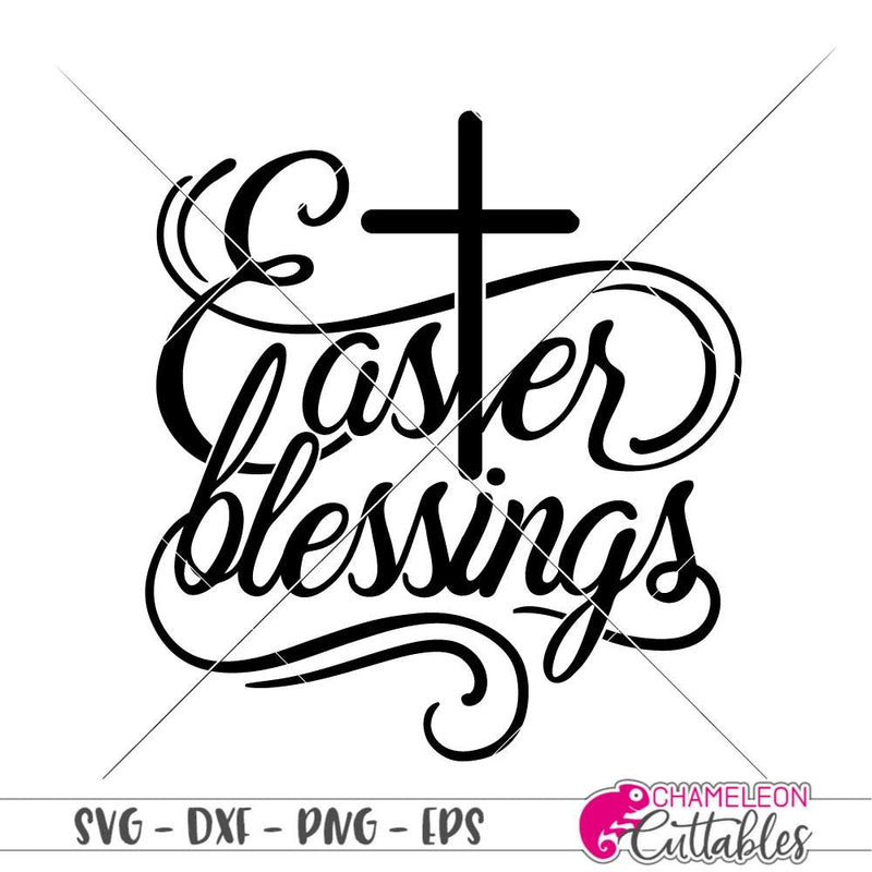 Easter blessings with cross svg png dxf eps SVG DXF PNG Cutting File