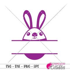 Easter Bunny Egg Frame For Name Svg Png Dxf Eps Svg Dxf Png Cutting File