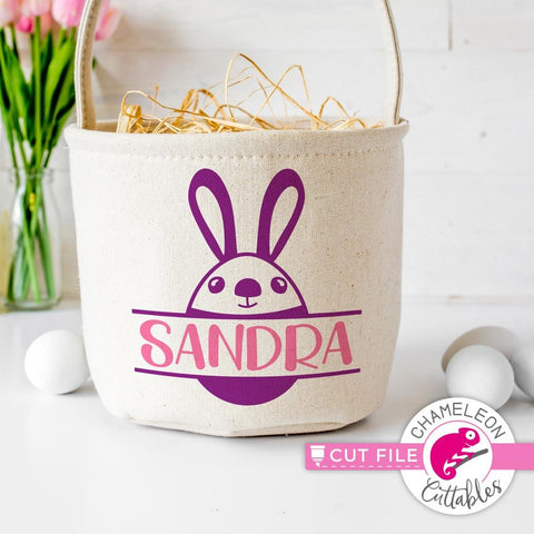 Easter Bunny Egg frame for name svg png dxf eps