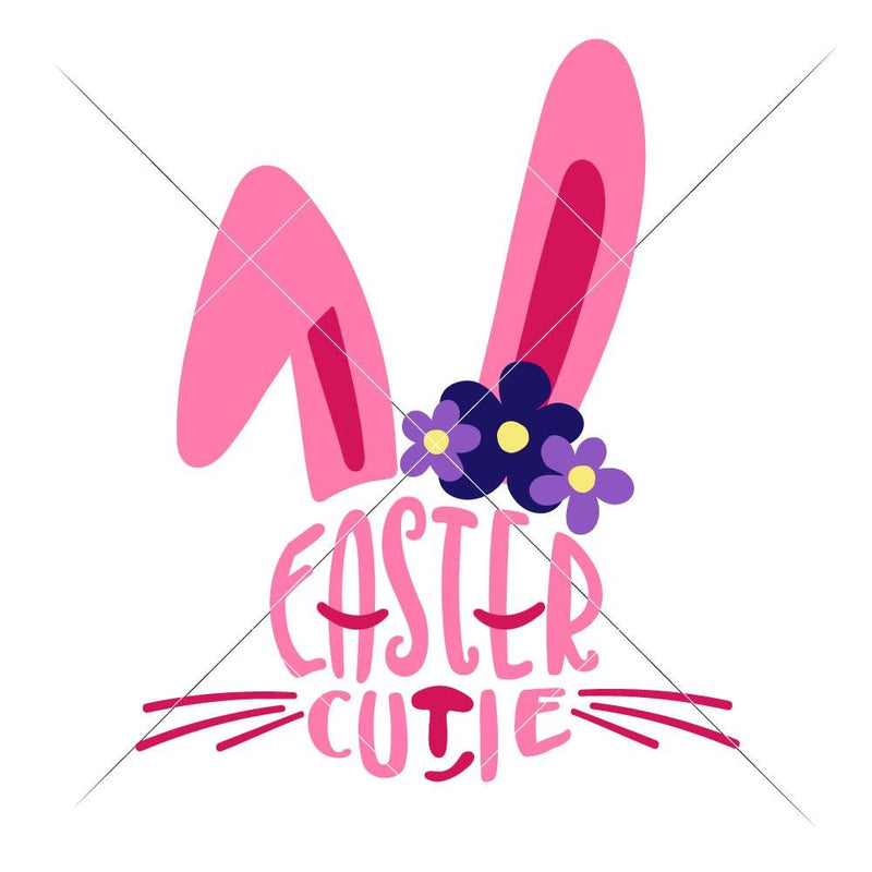 Easter Cutie Bunny Face Svg Png Dxf Eps Svg Dxf Png Cutting File