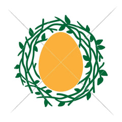 Easter Nest For Monogram Svg Png Dxf Eps Svg Dxf Png Cutting File