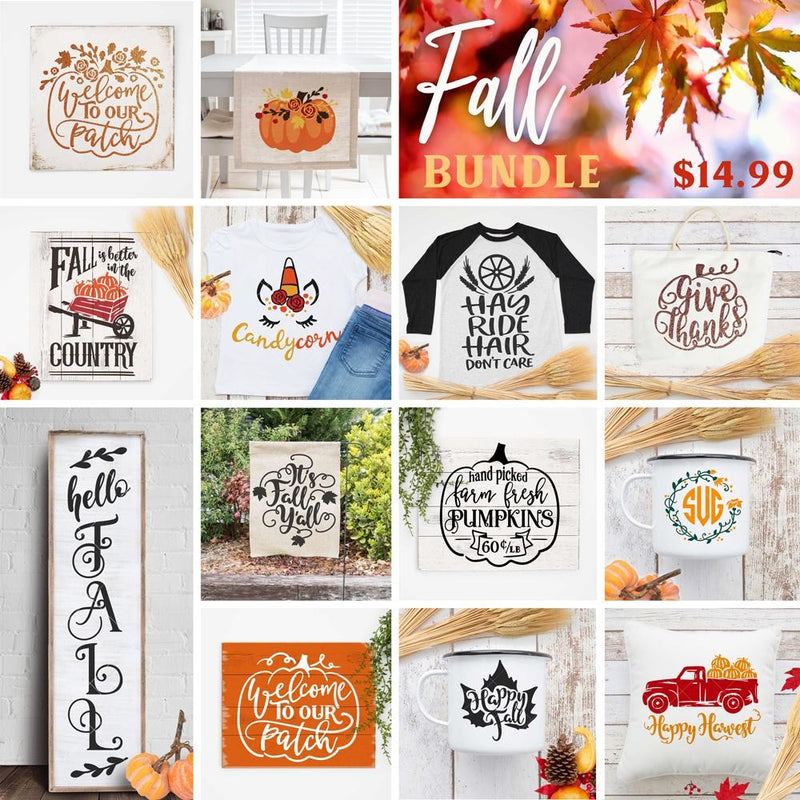 Fall Bundle Svg Dxf Png Cutting File