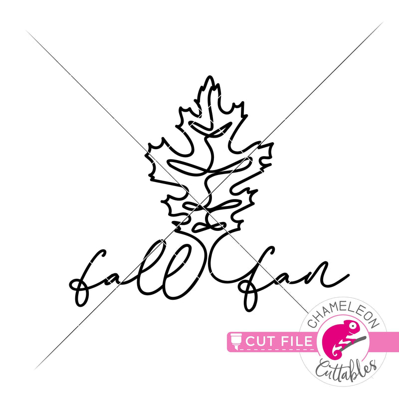 Fall fan leaf line art svg png dxf eps jpeg SVG DXF PNG Cutting File