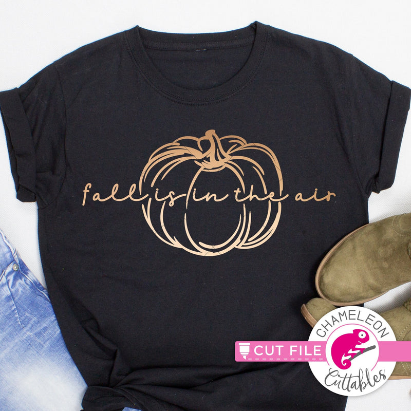 Fall is in the air pumpkin svg png dxf eps jpeg SVG DXF PNG Cutting File