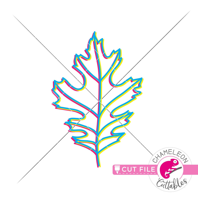 Fall leaf retro svg png dxf eps jpeg SVG DXF PNG Cutting File