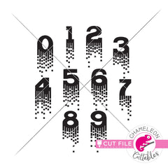 Fancy Queen 0-9 numbers svg png dxf eps jpeg SVG DXF PNG Cutting File