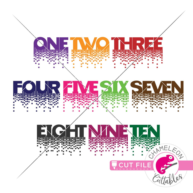Fancy Queen numbers one-ten svg png dxf eps jpeg SVG DXF PNG Cutting File