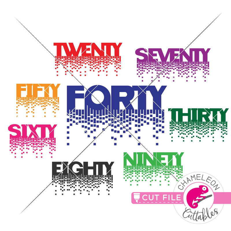 Fancy Queen numbers twenty-ninety svg png dxf eps jpeg SVG DXF PNG Cutting File