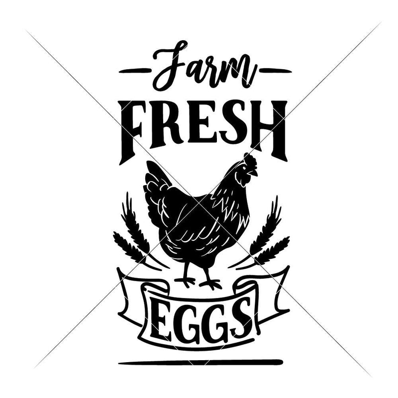 Farm Fresh Eggs Svg Png Dxf Eps Svg Dxf Png Cutting File