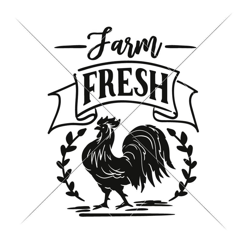 Farm Fresh Rooster Svg Png Dxf Eps Svg Dxf Png Cutting File