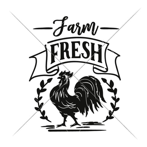 Farm fresh Rooster svg png dxf eps