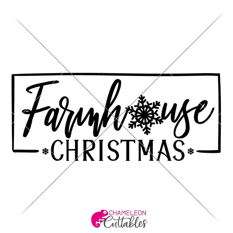 Farmhouse Christmas Svg Png Dxf Eps Svg Dxf Png Cutting File