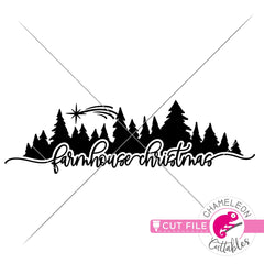 Farmhouse Christmas Trees horizontal svg png dxf eps jpeg SVG DXF PNG Cutting File