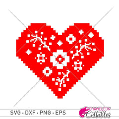 Faux Embroidery Heart 2 Svg Png Dxf Eps Svg Dxf Png Cutting File