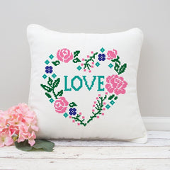 Faux Embroidery Heart Love Svg Png Dxf Eps Svg Dxf Png Cutting File