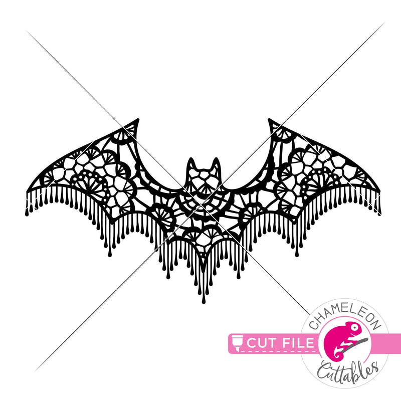 Faux Lace Halloween Bat svg png dxf eps jpeg SVG DXF PNG Cutting File