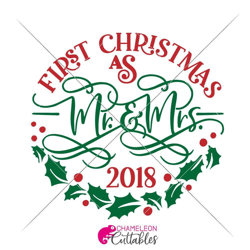 First Christmas As Mr. And Mrs. Svg Png Dxf Eps Svg Dxf Png Cutting File