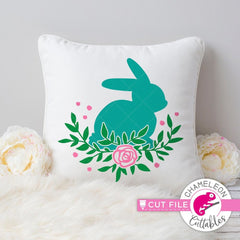 Floral Easter Bunny Multicolor Svg Png Dxf Eps Svg Dxf Png Cutting File