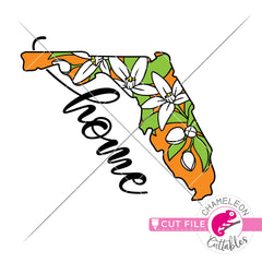 Florida state flower orange blossom home layered svg png dxf eps jpeg SVG DXF PNG Cutting File