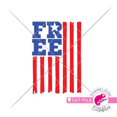 Free American Flag patriotic 4th of July svg png dxf eps jpeg SVG DXF PNG Cutting File