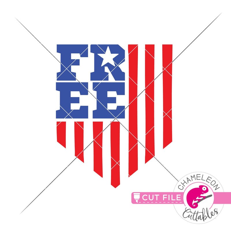Free Emblem American Flag patriotic 4th of July svg png dxf eps jpeg SVG DXF PNG Cutting File
