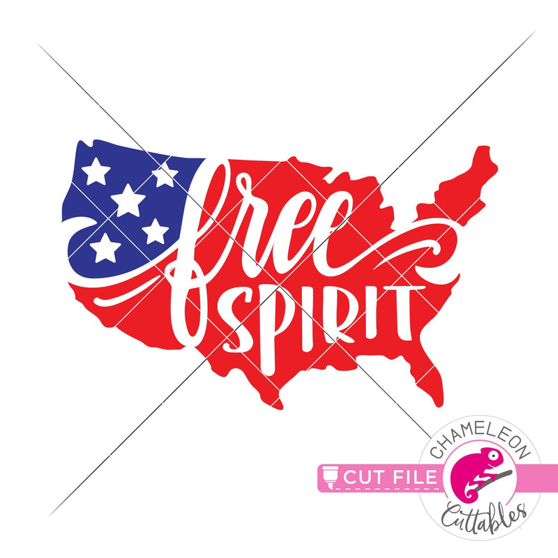 Free Spirit American Flag USA svg png dxf eps jpeg SVG DXF PNG Cutting File