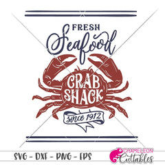 Fresh Seafood Crab Shack vertical svg png dxf eps SVG DXF PNG Cutting File