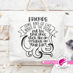 Friends are like Ocean Waves svg png dxf eps SVG DXF PNG Cutting File