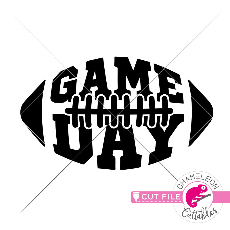 Game day Football svg png dxf eps jpeg SVG DXF PNG Cutting File