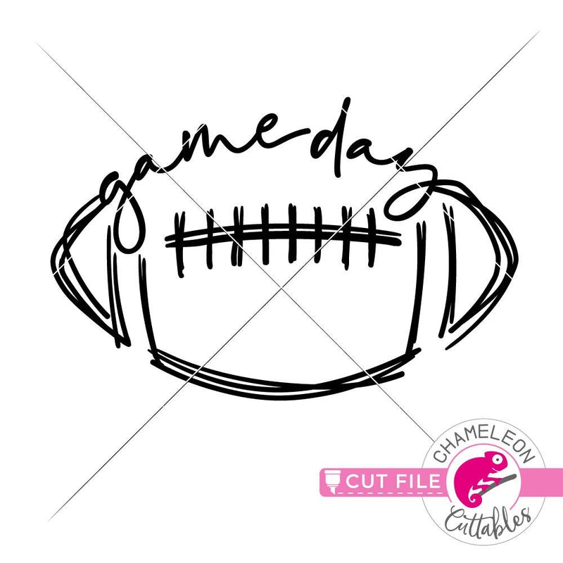 Game Day Sketch Bundle svg png dxf eps jpeg SVG DXF PNG Cutting File