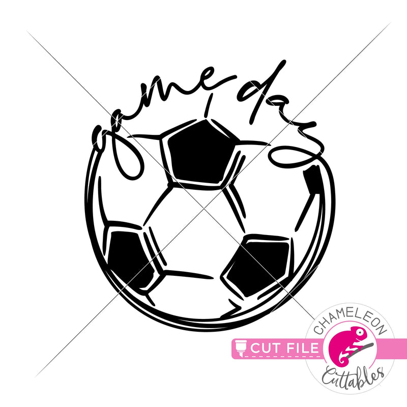 Game Day Soccer Sketch Drawing svg png dxf eps jpeg SVG DXF PNG Cutting File