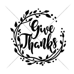 Give Thanks Wreath Svg Png Dxf Eps Svg Dxf Png Cutting File