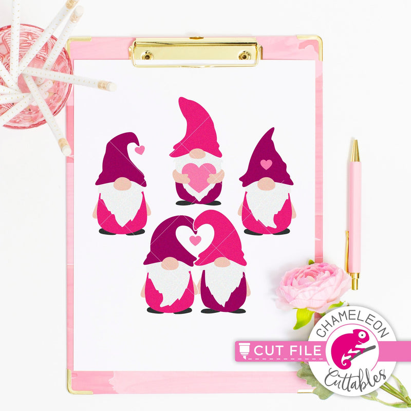 Gnomes Valentines day svg png dxf eps jpeg SVG DXF PNG Cutting File