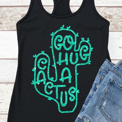 Go hug a Cactus svg png dxf eps SVG DXF PNG Cutting File