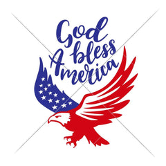 God Bless America Eagle Svg Png Dxf Eps Svg Dxf Png Cutting File