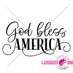 God bless America modern Farmhouse svg png dxf eps jpeg SVG DXF PNG Cutting File