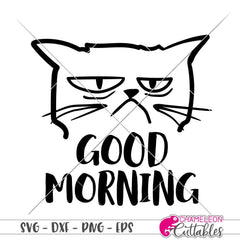 Good morning grumpy cat svg png dxf eps SVG DXF PNG Cutting File