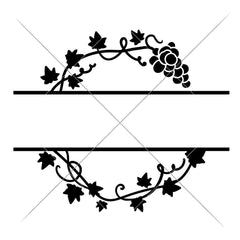 Grape Vine Split Design Svg Png Dxf Eps Svg Dxf Png Cutting File