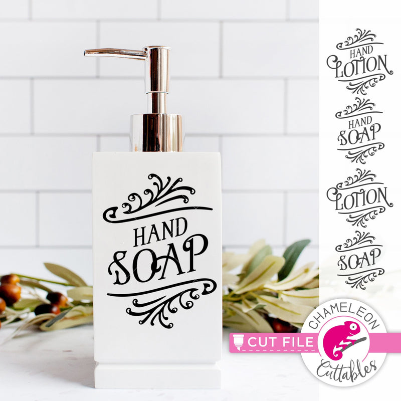 Hand Soap and Lotion Farmhouse svg png dxf eps jpeg SVG DXF PNG Cutting File