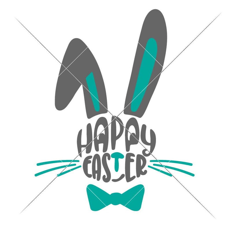 Happy Easter Bunny Face Boy Svg Png Dxf Eps Svg Dxf Png Cutting File